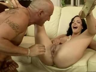 Older man fingering younger girl