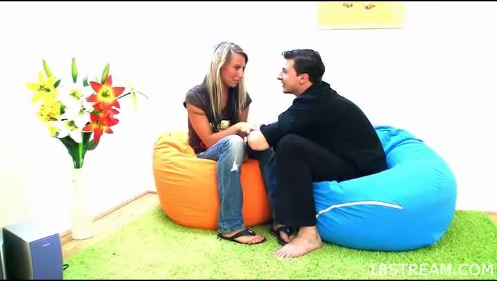 Think, Porn bent over a beanbag think