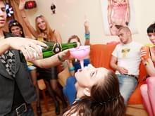Drunk public sex party