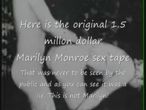 Marilyn monroe oral sex tape