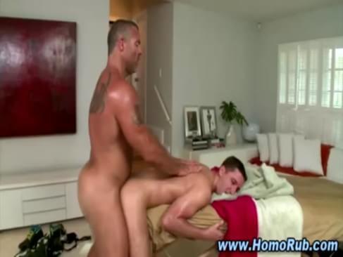 Hunk Fucks Straight Guys Ass After Massage