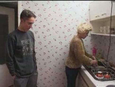 Mom Washes Her Son Bath