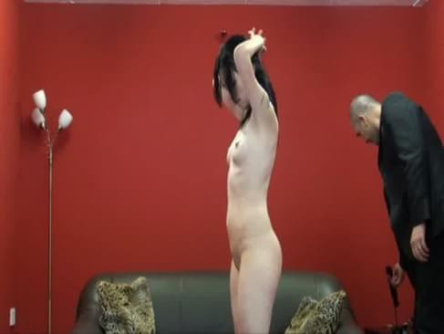 Extreme amateur spanking and whipped ass punishment and old fart porn