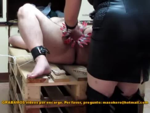Pins amp penis spanking with a rubber ruler 3