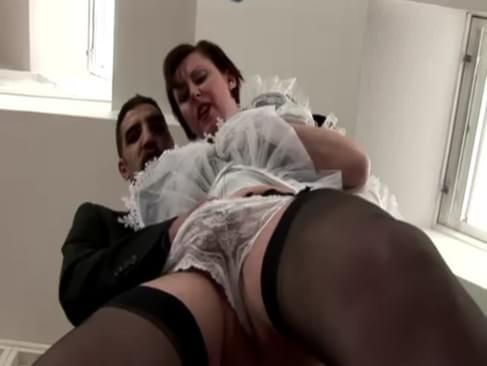 Horny maid fuck