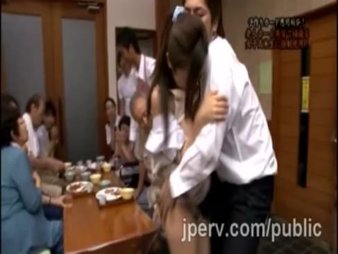 Hot Japaneses student screwed savagely during her family dinner. They parents can believe how slutty their sweetheart is. That submissive schoolgirl can do nothing but obey her perverted boyfriend.