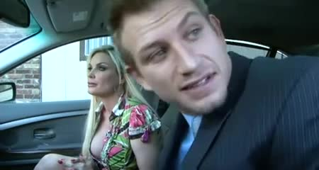 Two hot milfs give one very lucky guy the special gift of a double suck on his hard johnson.