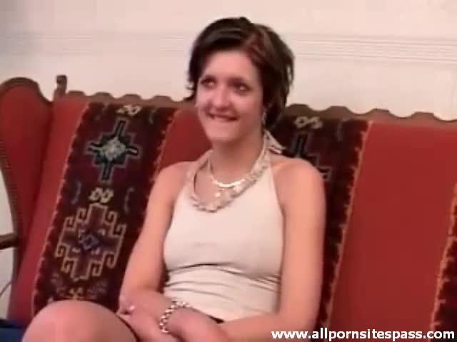 girl using dildo on man