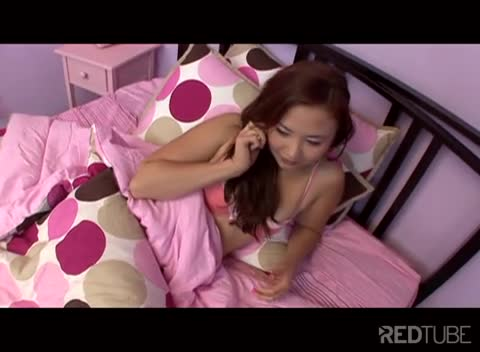 Horny Asian teen fucks dad's friend