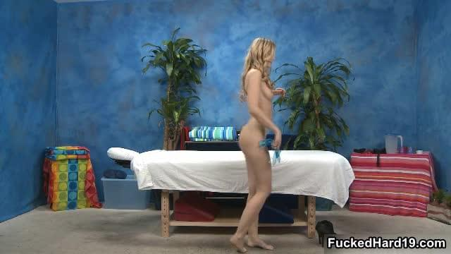 Sexy Blonde Teen Babe Gets Her Fine Body A Hot Massage By FuckedHard19