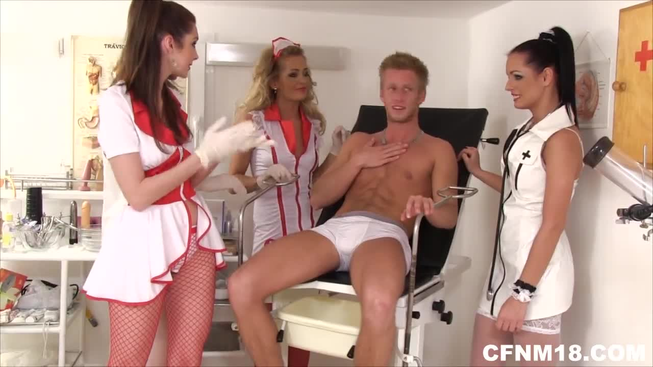 youngCFNM four young cfnm doctors undressing a patient and doing testicle exam : xxxbunker.com porn tube