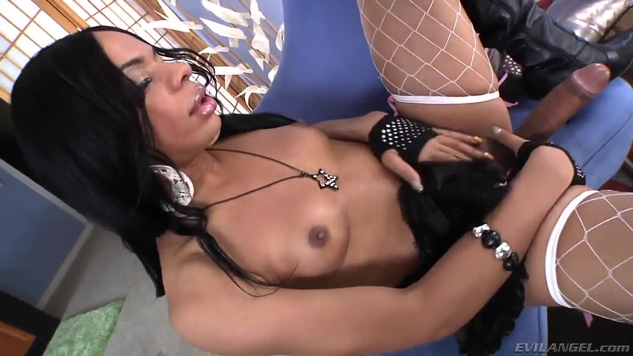 Lonely busty rich shemale finds a friend