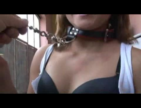 Collar fuck and facial