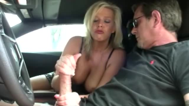 Busty girl saying jerk off