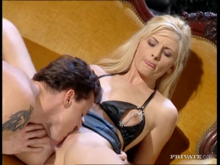 Masturbation with dildo blonde