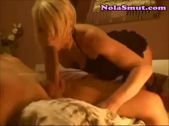 Wife sucks a big cock