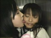 young girl is forced into lesbian sex in an elevator
