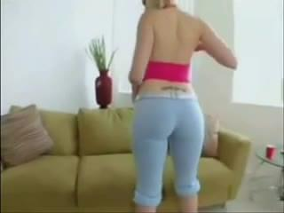 Big Ass MILF Blonde in Tight Yoga Pants, Porn 52: