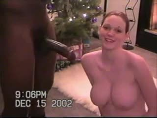 Wife Attempts Bouncing on Cock on Christmas - Free