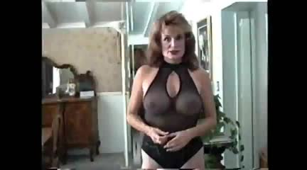50's milf shows off her body in black lingerie : xxxbunker porn tube