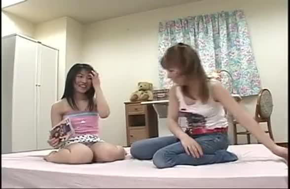 girl reading a porn magazine