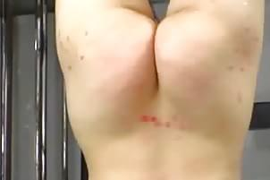 blonde hottie naked upside down