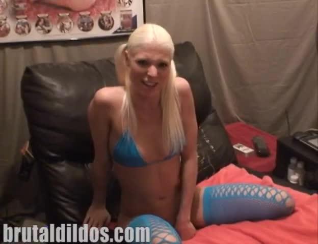 Girl Masturbating Huge Dildo