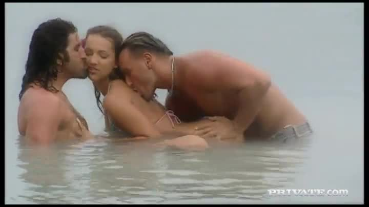 Sensual Threesome Sex On The Beach With Two Angels Xxxbunker Com Porn Tube