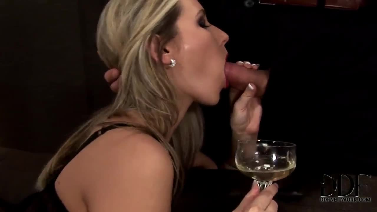 Champagne blowjob