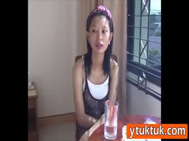 Caught girl humping masturbating