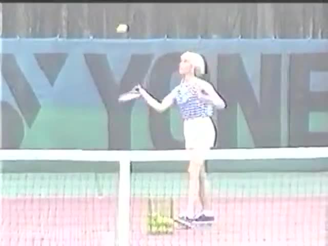 Fisting On Tennis Court