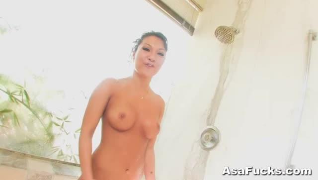 Asa Akira Asian Pornstar Drilled During Shower