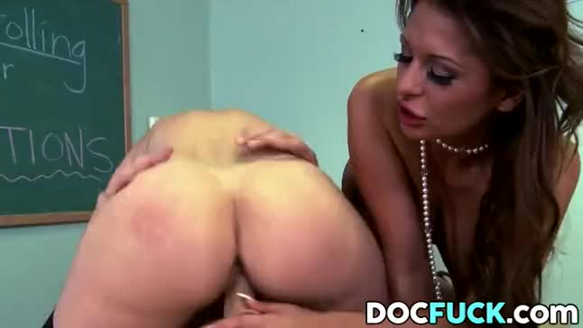 Allison star fucks with three massive cocks