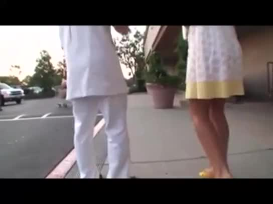 Blond wife get japanese massage