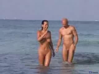 amateur nude beach 4some