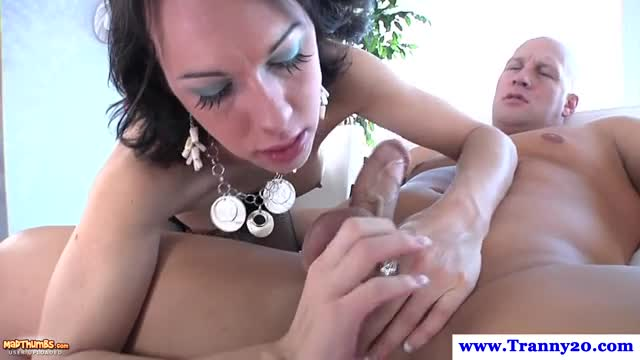 Tgirl toying and rimming lovers ass