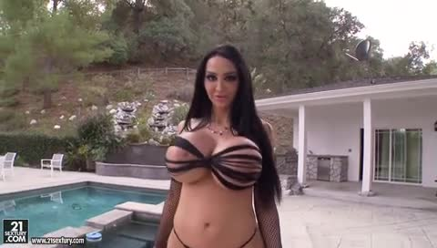 amy porn titjob amy anderssen pulls out huge her tits and starts