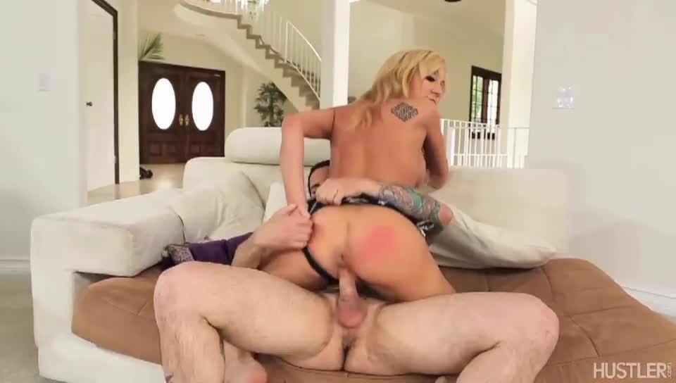 Girl digging anal