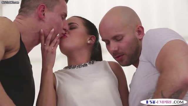 Anally drilled euro stud rides hard cock