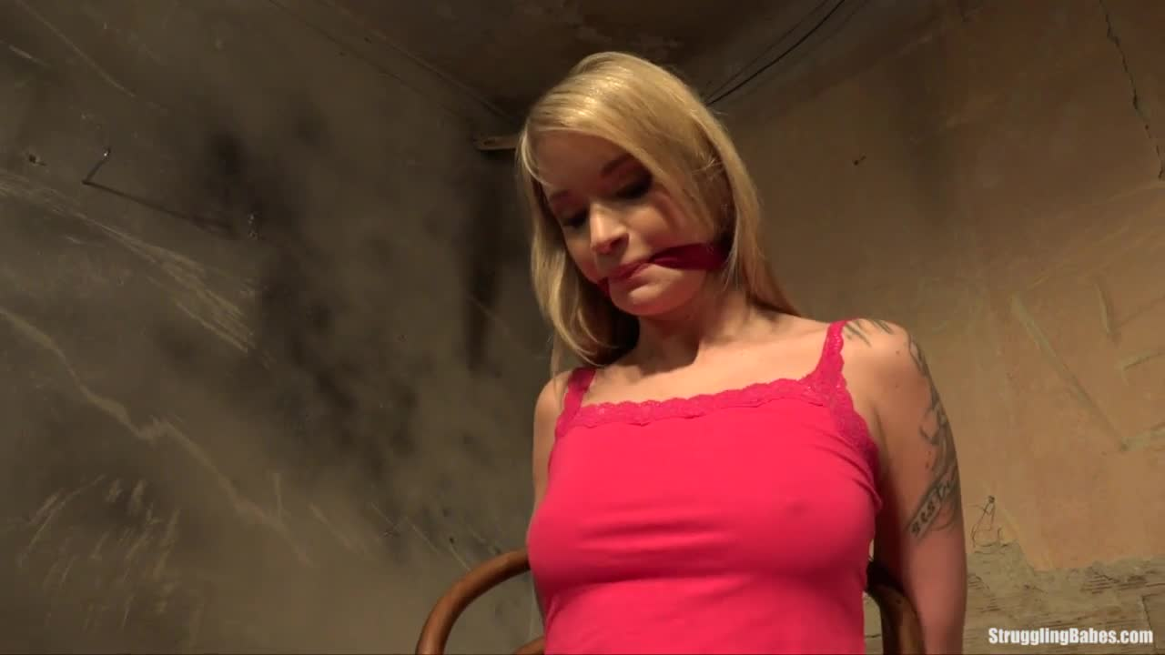 Angel piaff chairtied gagged stripped naked vibed 6