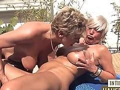 Male one threesome two woman
