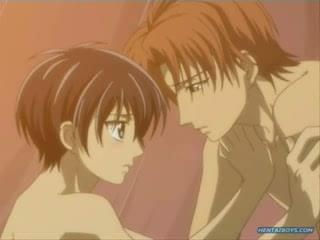 Anime teen gay boys getting naughty and horny