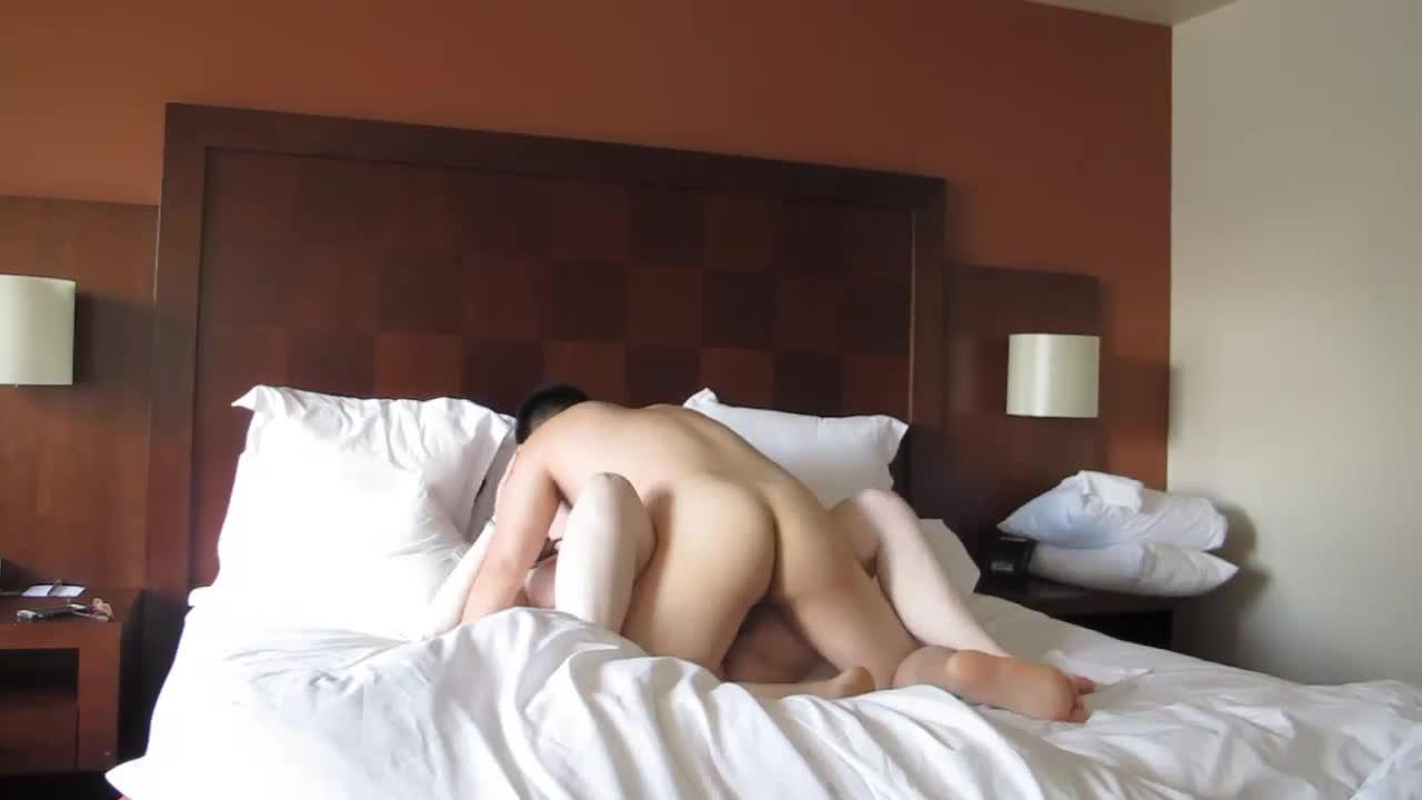 Amwf asian male white female doggystyle cumshot 5