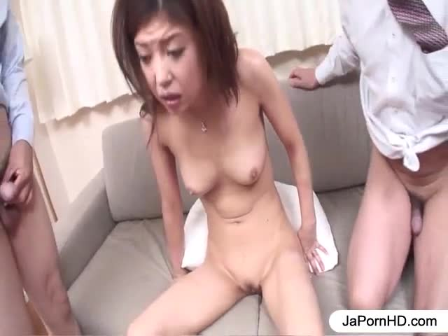 Milf fucked by team