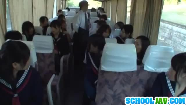 Asian Schoolgirl On Bus