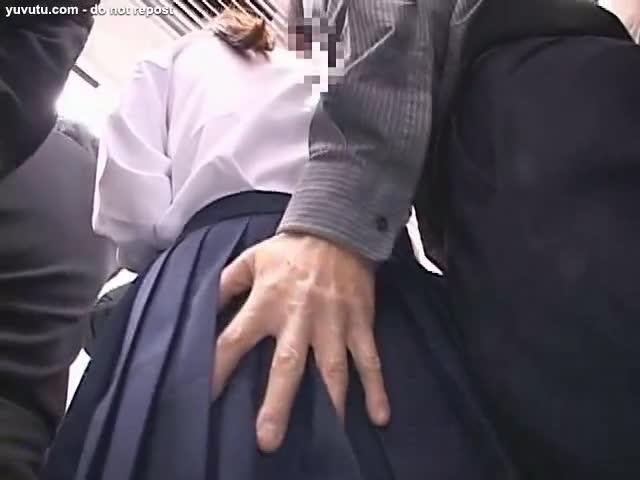 woman touching her puss