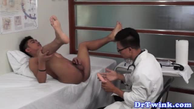Asian twinks ass toyed by horny doctor