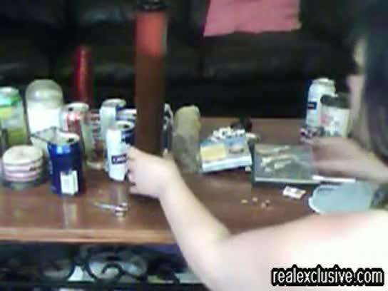 Girl caught masturbating on webcam
