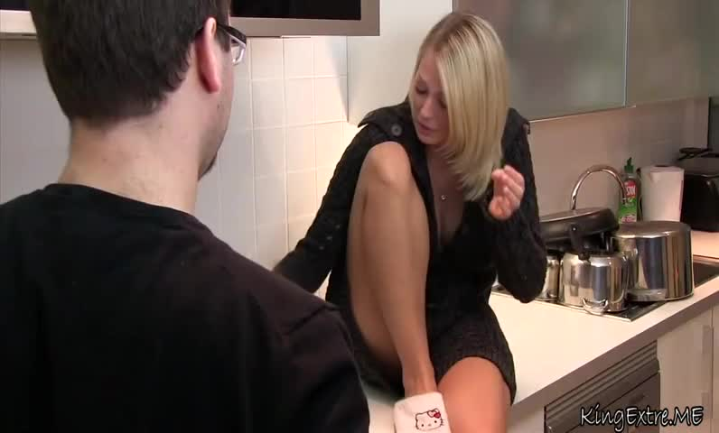 Bad brother seduced his beauty drunk sister