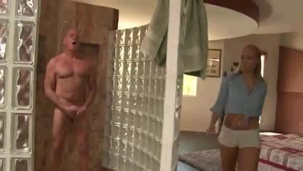 Old man fucks step daughter